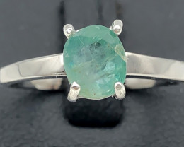 10.58 Crt Natural Emerald 925 Silver Ring