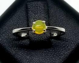 Natural Ethiopian Opal Silver Ring