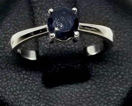 Natural Sapphire Silver Ring