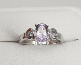 The Amazzing Purpar Color Ameythes  Stone In 925 Silver Ring 17.80 Ct.