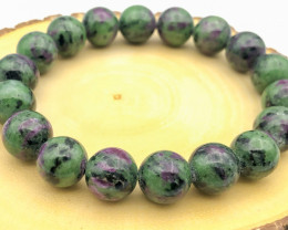 224 Crt Natural Ruby Zoisite Bracelet