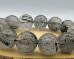 555.5 Crt Natural Rutile Quartz Bracelet