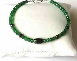 Black Diamond and Emerald Bead Bracelet 40.00 TCW