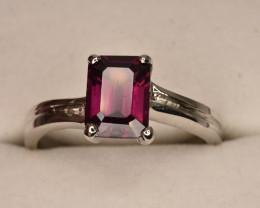 Rhodolite Garnet Ring with Silver 925