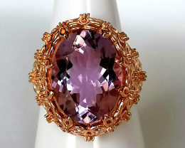 Amethyst and Zircon Ring 8.85 TCW