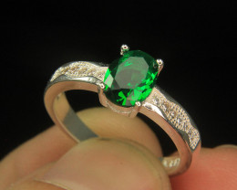 Wow Very Beautiful Green & small White Color CZ Zirconia .