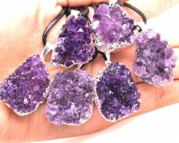 6 Amethyst Druze  Cluster  Gemstone  ,  BR 2231