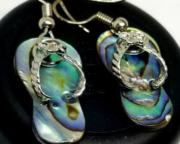 Abalone Shell Slippers Stainless Steel  Earrings