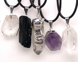 Popular Mix 5 Gemstones Pendants  BR 2258