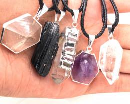 Popular Mix 5 Gemstones Pendants  BR 2274