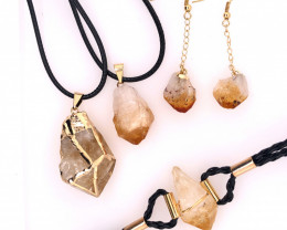 Citrine Lovers Four Piece Jewelry Set - BR 988