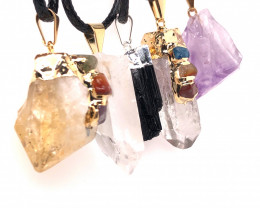 Popular Mix 5 Gemstones Pendants  G/P  BR 2283