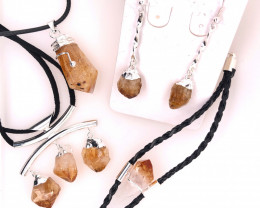 Citrine Lovers Four Piece Jewelry Set - BR 996