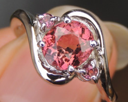 1.47cts, Tourmaline Ring Silver