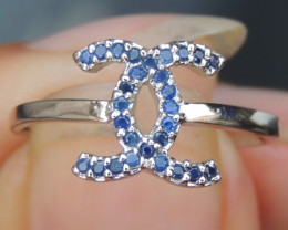 Royal Blue Sapphire in Silver