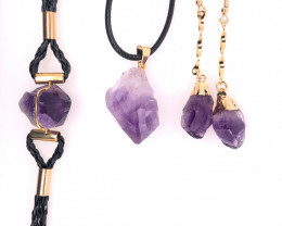 Amethyst Lovers Three Piece Jewelry Set - BR 1003