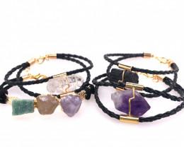 4 x Raw Rock Gemstones Bracelet - BR 1014