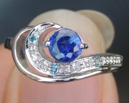 Royal Blue Kayanite Ring