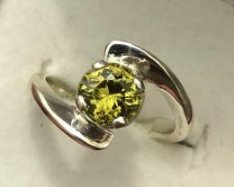 Natural Mali Garnet Hand Made 925 Silver Ring