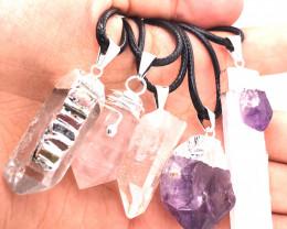 Popular Mix 5 Gemstones Pendants  G/P  BR 2316