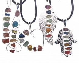 Five Charka Pendants-Seven Chakra - natural stones - BR 2331