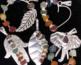 Five Charka Pendsnts-Seven Chakra - natural stones - BR 2334