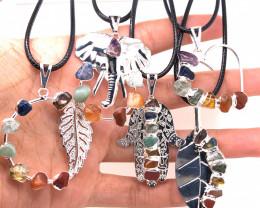 Five Charka Pendsnts-Seven Chakra - natural stones - BR 2335