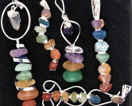 Five Charka Pendsnts-Seven Chakra - natural stones - BR 2338
