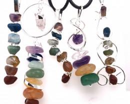 Five Charka Pendsnts-Seven Chakra - natural stones - BR 2339