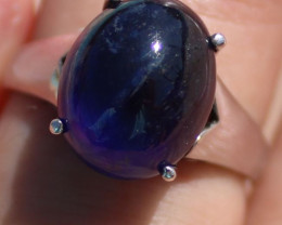 SOLD Blue Sapphire 11.50ct Solid 925 Sterling Silver Rhodium Finish Solitai