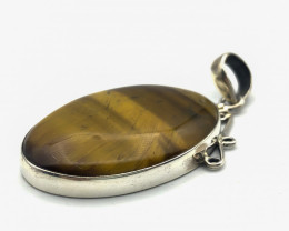 56.70 Crt Natural Tiger Eye Pendant
