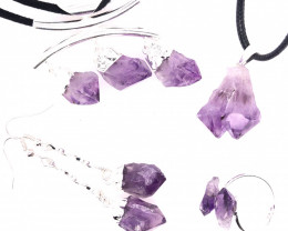 Amethyst Lovers Four Piece Jewelry Set - BR 1108