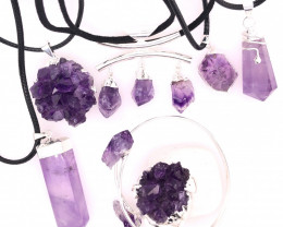 Amethyst Lovers Seven Piece Jewelry Set - BR 1112