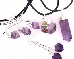 Amethyst Lovers Four Piece Jewelry Set - BR 1127