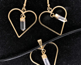 Crystal Lovers Terminated Point Set Earrings & Pendants - BR 1178