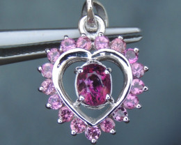 Pink Tourmaline in Silver