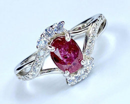 1.03ct. Attractive Ruby Unheated Mozambiq Quality.Silver925Ring.DZR10