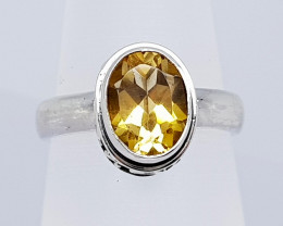 23CT CITRINE 925 SILVER HAND MADE RING