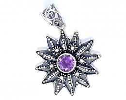 21.45CT AMETHYST  925 SILVER HAND MADE PENDANT