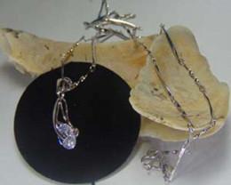 Silver Plated Chain Silver Plated Chain With Unique Solitaire Diamond Penda
