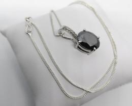 Black Diamond Pendant With White Diamond Accents 5.70TCW