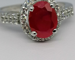 Ruby Ring With Accents 1.80 TCW.