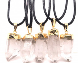 Parcel 5 x Terminated Point Crystal Pendant - BR 1196