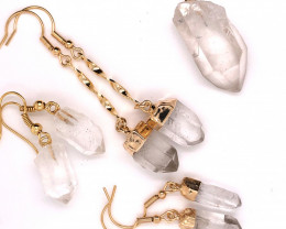 Crystal & Golden Lovers Four Piece Jewelry Set - BR 1204