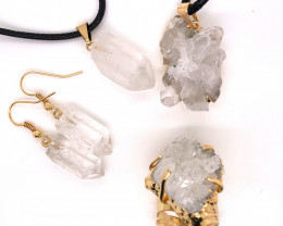 Crystal & Golden Lovers Jewelry Set - BR 1255