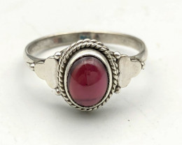 12.10 Crt Natural Rhodolite Garnet 925 Silver ring