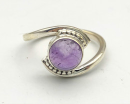12.14 Crt Natural Amethyst 925 Silver ring