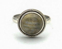 12.95 Crt Natural Labradorite 925 Silver ring