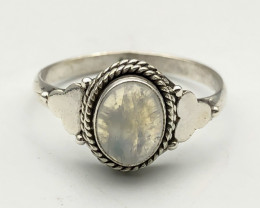 11.63 Crt Natural Moonstone 925 Silver ring