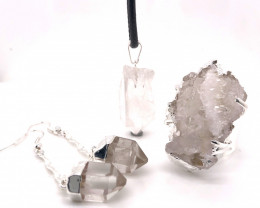 Crystal Raw  Set - High Grade Druzy - BR 1261